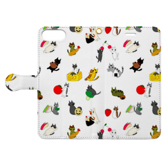 こるとのたべものとねこ Book-style smartphone caseを開いた場合(外側)