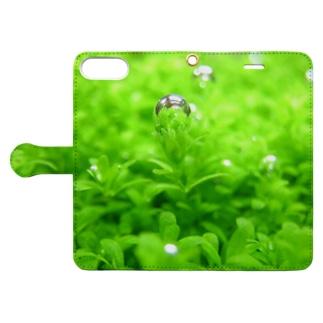 水草『キューバパールグラス』 Book-style smartphone case