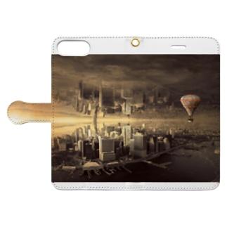 反転した街 Book-style smartphone case