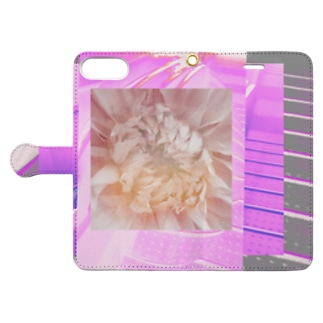 flower steps Book-style smartphone case