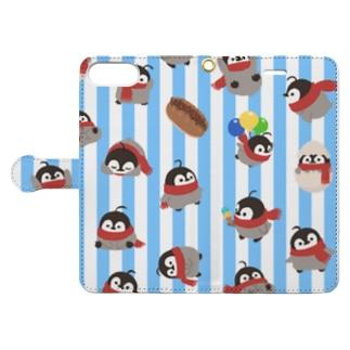 焼きペン ストライプ Book-style smartphone case