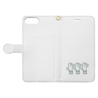 ハニワ3兄弟!! Book-style smartphone case