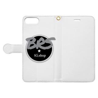 【Brue Rose】errieのBRS85. (Gray) Book-style smartphone caseを開いた場合(外側)