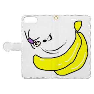 バナナ滑り台ヤッホー Book-style smartphone case