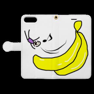 dashimakimakiのバナナ滑り台ヤッホー Book-style smartphone caseを開いた場合(外側)