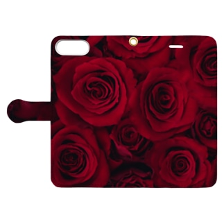 RED ROSE -1- Book-style smartphone case