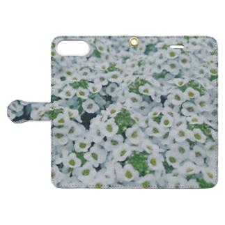 しろ色畑 Book-style smartphone case