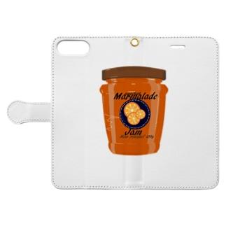オレンジ・ジャム Book-style smartphone case