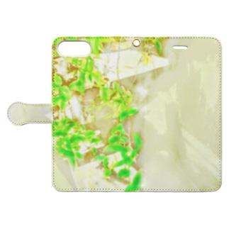 つながる葉 Book-style smartphone case
