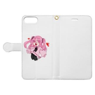 音桜グッズ Book-style smartphone case