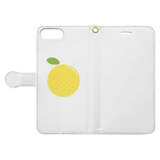 洋さんのグレープフルーツ Book-style smartphone case