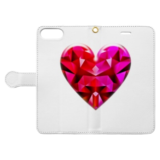 abstract heart shape Book-style smartphone case