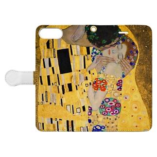 グスタフ・クリムト『 接吻(The Kiss) 』2 Book-style smartphone case