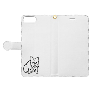 見つめるフレブル Book-style smartphone case