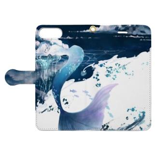 つみれの人魚 Book-style smartphone caseを開いた場合(外側)