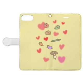 仲良し野菜のべじさんず Book-style smartphone case