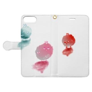 ぴよちたち Book-style smartphone case