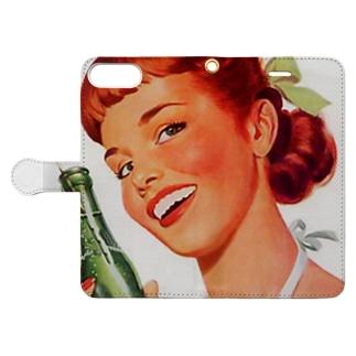 Soda Pop ビンテージ Book-style smartphone case