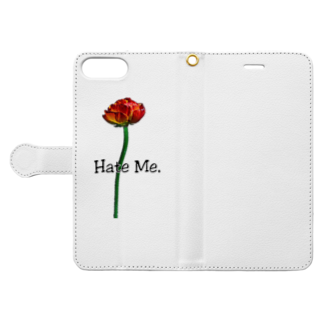 Lil'Tyler's Clothing.の「Hate Me FLOWER」 Book-style smartphone caseを開いた場合(外側)