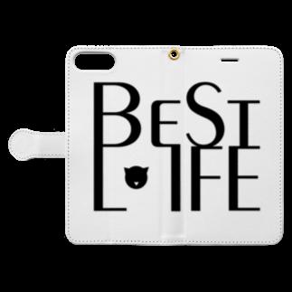 GenussmittelのBestLifeグッズ3 Book-style smartphone caseを開いた場合(外側)