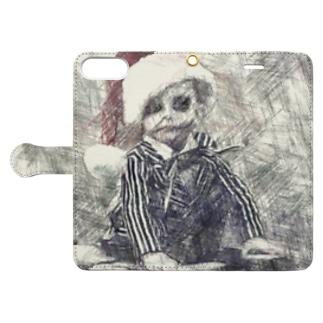 A boy who predicts death Book-style smartphone case