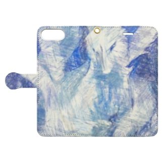 Blue nine-tailed fox Book-style smartphone case