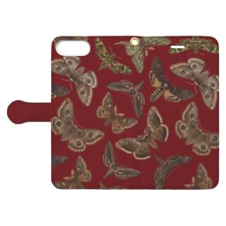 欧州の蛾(赤) Book-style smartphone case