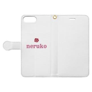 苺華ねるこ🥀ASMRのねるこロゴ Book-style smartphone caseを開いた場合(外側)