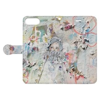 やわらかい白 Book-style smartphone case