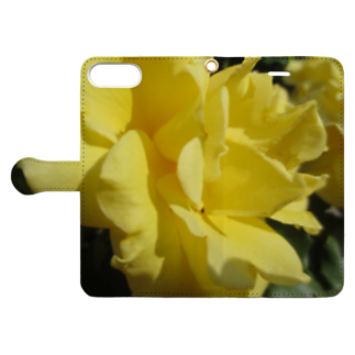 Dreamscapeのイエローな気持ち Book-style smartphone caseを開いた場合(外側)