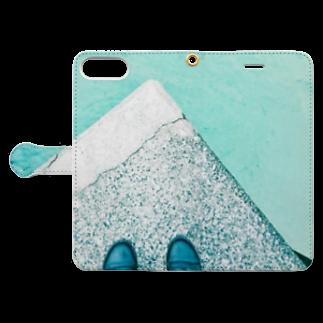 古春一生(Koharu Issey)の今日じゃない。 Book-style smartphone caseを開いた場合(外側)