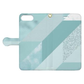 異素材モード系AQUA。 Book-style smartphone case