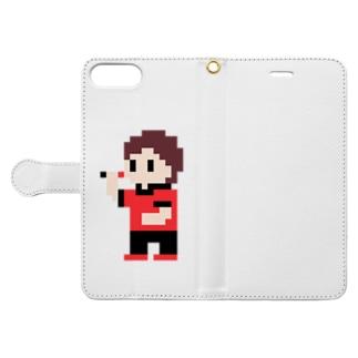 ダーツまろさん(ドット) Book-style smartphone case