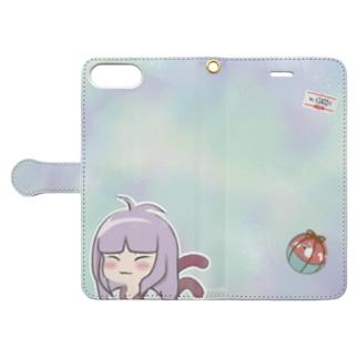 魚津商店の手帳ケース-BAD GIRL 猫また- Book-style smartphone case