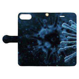 Lost'knotの君…もしかしてサ○ヤ人? Book-style smartphone caseを開いた場合(外側)