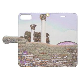 CG絵画:オスティアの神殿遺跡 CG art: Ostia Book-style smartphone case