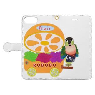ROBOBO 果物屋さん Book-style smartphone case