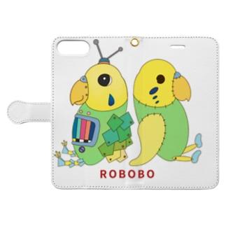 ねこぜや のROBOBO ユーチューバー Book-style smartphone caseを開いた場合(外側)