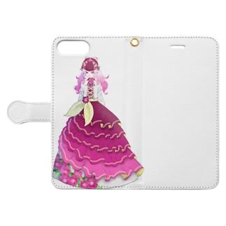 ペチュニア Book-style smartphone case