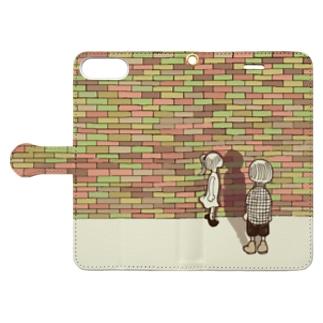 間接キス Book-style smartphone case