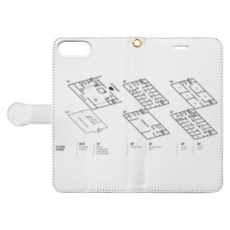 kaganhotel floor guide goods Book-style smartphone case