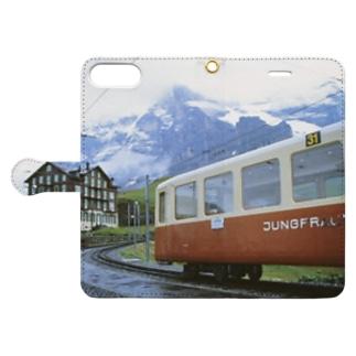 スイス:クライネシャイデックの風景写真 Switzerland: Kleine Scheidegg Book-style smartphone case
