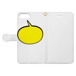 吹き出しイエロー Book-Style Smartphone Case