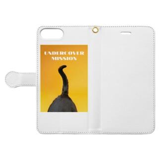 ANOTHER GLASSの秘密のお仕事 Book-style smartphone caseを開いた場合(外側)