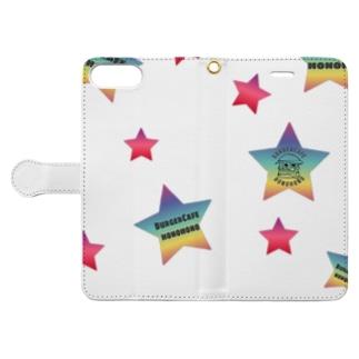 星 honohonoくん Book-style smartphone case