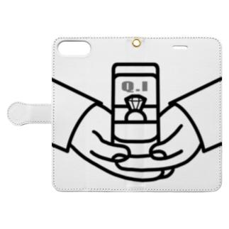 【Q.Iシリーズ】プロポーズ ブラック Book-style smartphone case