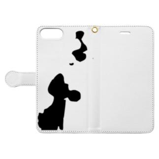 星鹿町シルエット Book-style smartphone case