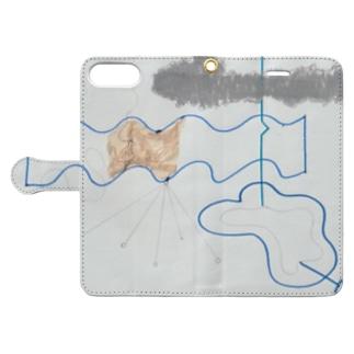 線 Book-style smartphone case