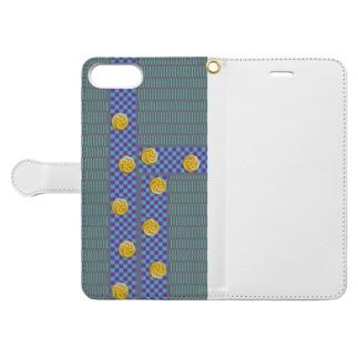 畳1(黒田) Book-style smartphone case