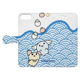 すいっすいっざぶんシリーズ Book-style smartphone case